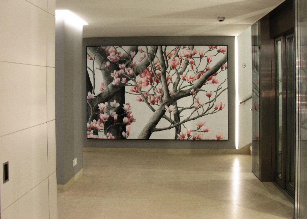 Wandbild Magnolienbaum 1
