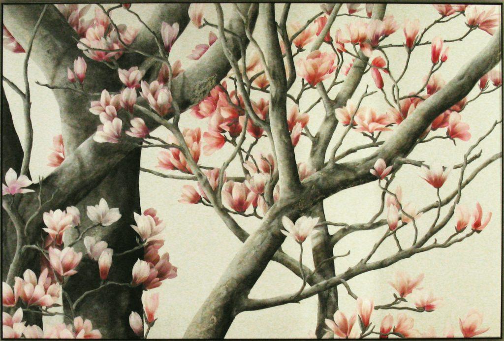 Wandbild Magnolienbaum