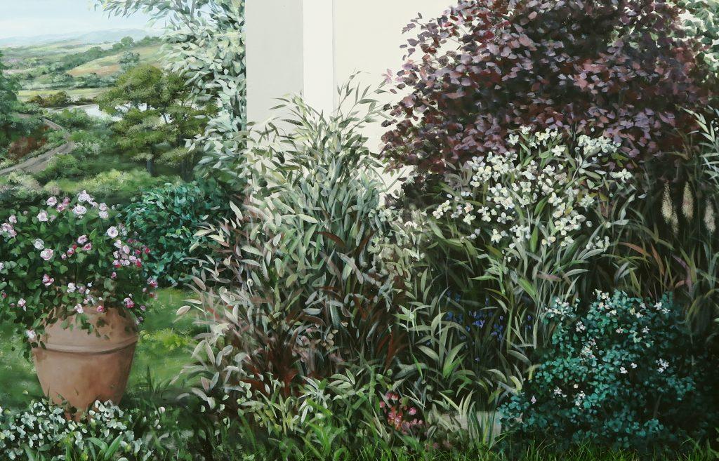 Wandmalerei im Garten 3