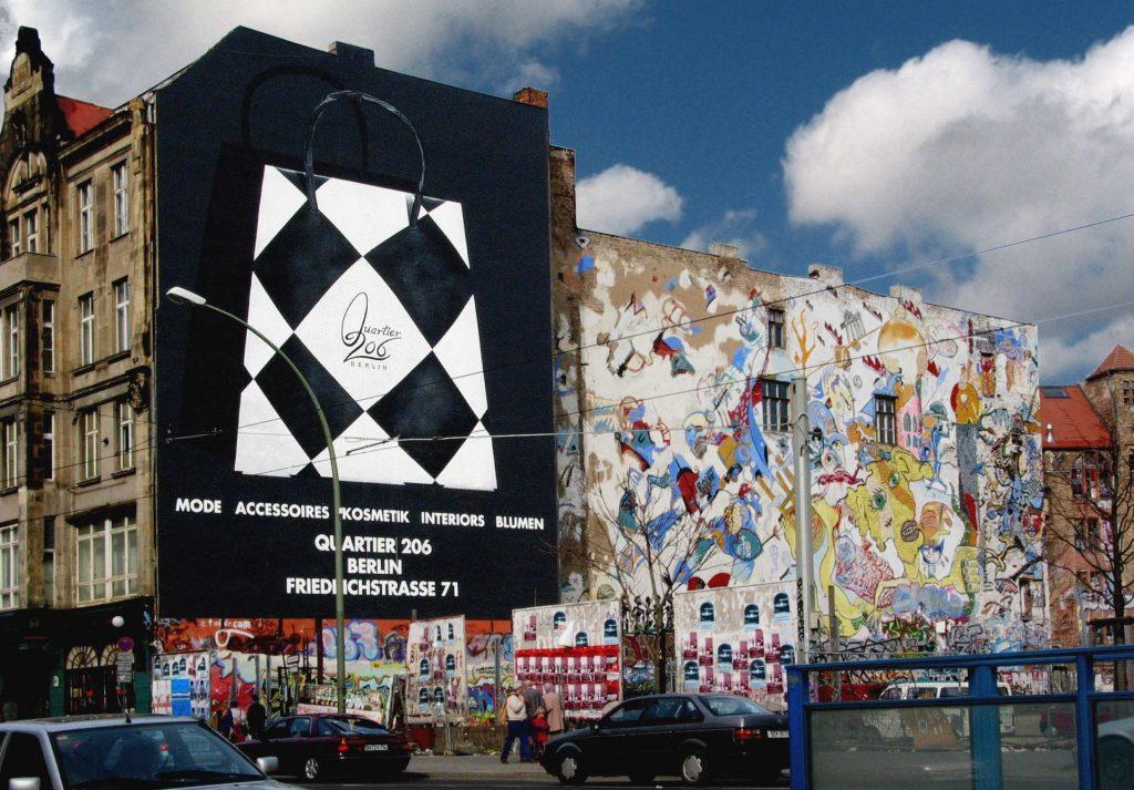 Reklamemalerei in der Friedrichstrasse