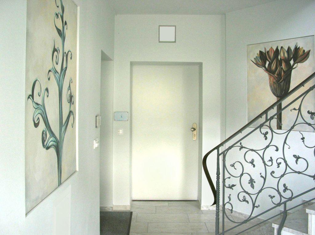 Tafelbilder im Treppenhaus 1