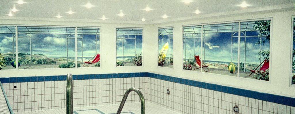 Wandmalerei im Schwimmbad 2
