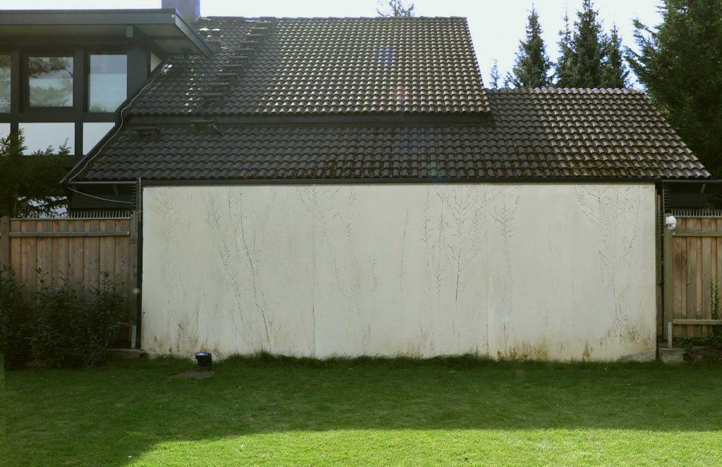 die Wand vor der Bemalung