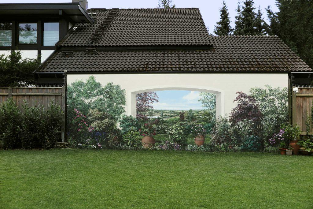 Wandmalerei im Garten 1