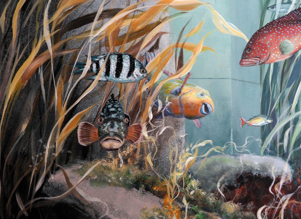 Wandmalerei Zahnarztpraxis Detail 2
