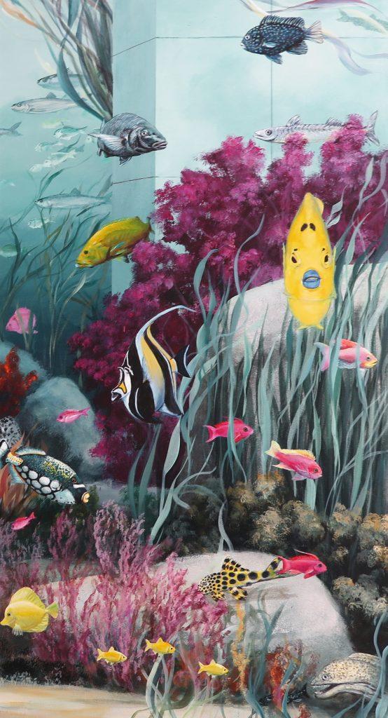 Wandmalerei Zahnarztpraxis Detail 4