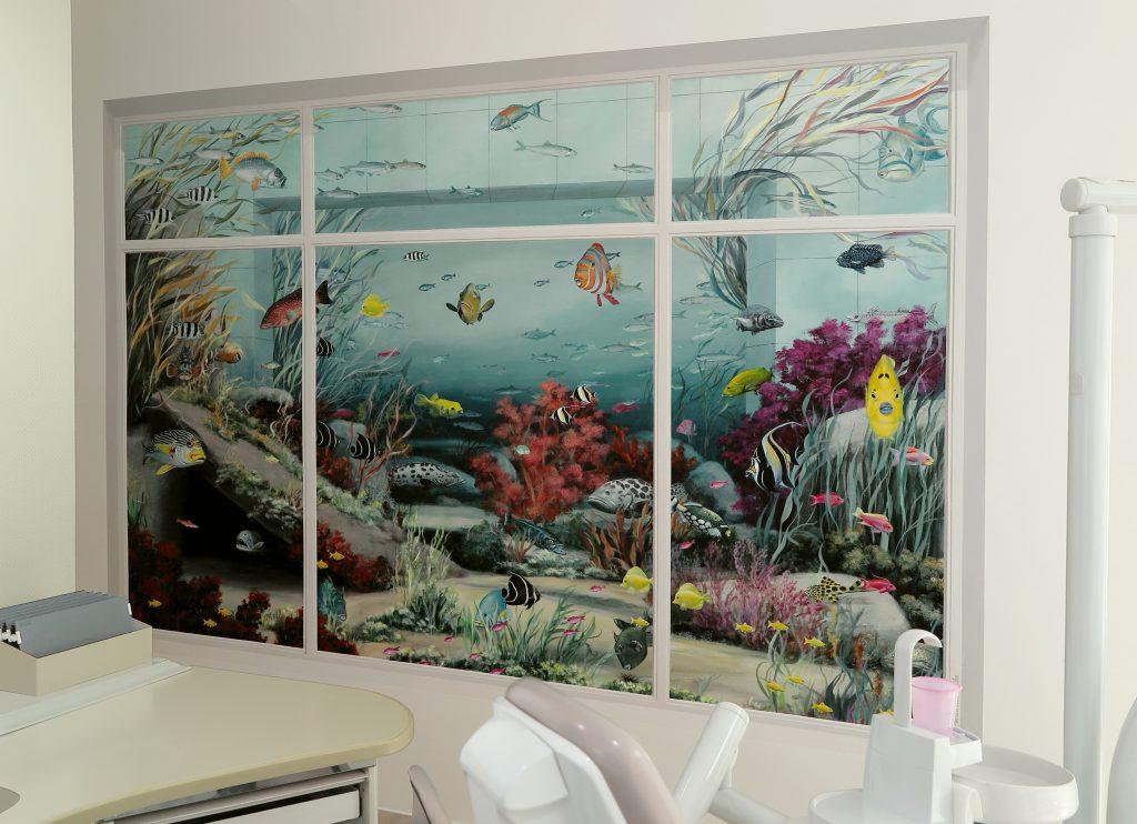 Wandmalerei Zahnarztpraxis